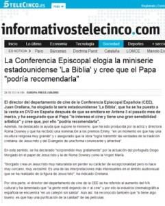 """""""La Biblia"""" en Tele5"""