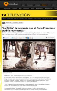 """La Biblia"" en Antena 3"